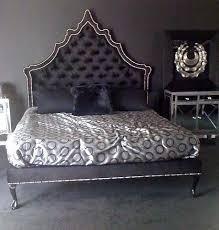 Quilted Headboard Bed 4091 Velvet Bed Tufted Headboard In Black Flickr