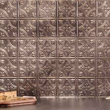 Fasade Kitchen Backsplash Panels Inspiring Brushed Nickel Kitchen Backsplashes With Fasade Hammered