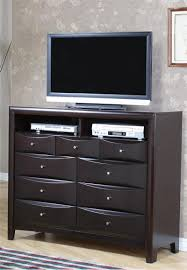 Bedroom Set With Media Chest Espresso Platform Bedroom Set Pheonix Collection