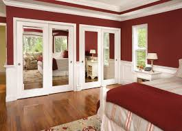 Mirrors For Closet Doors by How Make Double Closet Doors Secure Interior Design