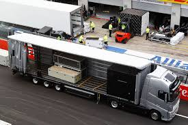 mclaren truck mclaren formula 1 on the road with the mcl32
