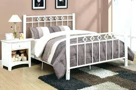White Iron Headboard White Metal Bed Frame Juniorderby Me