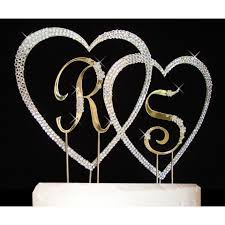 letter wedding cake toppers flower small letters large covered heart wedding cake topper set