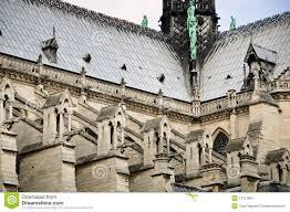 notre dame de paris flying buttress gothic architecture notre