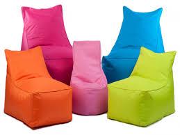 Big Joe Kids Lumin Bean Bag Chair Baby Nursery Modern Bean Bag Chairs Round Orange Luxe Fur Bean