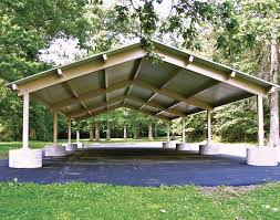 Single Pitch Roof All Steel Single Roof Savannah Rectangle Pavilions Pavilions