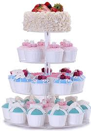 4 tier cake stand bonnoces 4 tier acrylic glass cupcake stands