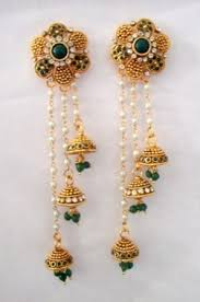 jhumka earrings online shopping jhumkas earrings green polki kashmiri jhumkas online shopping