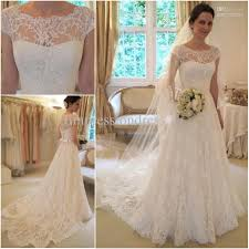 wedding gowns with sleeves lace wedding dresses with cap sleeves wedding decorate ideas