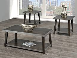 3 piece end table set brassex inc indira 3 piece coffee table set walnut the home