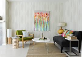 Modern Table Lamps For Living Room by Beautiful Drawing Beside Table Lamp Near Black Sofa In Interior