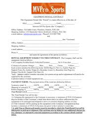 wedding rental equipment equipment rental contract in word and pdf formats
