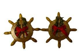 ships wheel ornament favors set of 2 8128