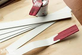 Painting Wood Blinds Paint Stir Stick Faux Wood Blinds Muslin And Merlot