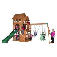 Amazon Backyard Playsets - amazon com backyard discovery liberty ii all cedar wood playset