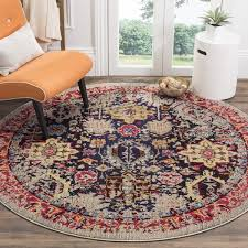 Overstock Rugs Round Safavieh Monaco Vintage Abstract Grey Multi Distressed Rug 6 U00277