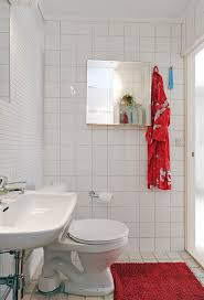 modern bathroom interior design with white ceramic wall panel and