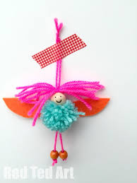 pom pom fairies decorations ornaments decorations