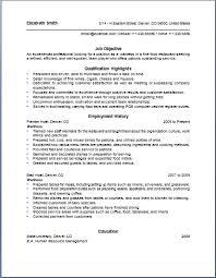 server resume samples free food service waitress waiter resume