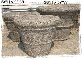 concrete planters little baja garden deck and patio decor