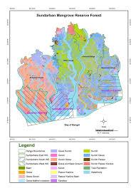 Map Types Vegetation Map Of The Bangladesh Sundarbans Reserve Forest