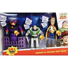 disney pixar toy story heroes u0026 villain gift pack talking zurg