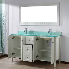 white bathroom vanities with tops bridgeport 60 inch white modern bathroom vanity mint green glass top