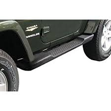 jeep black 2 door mopar 82210565ad wrangler jk side step black plastic pair 2007