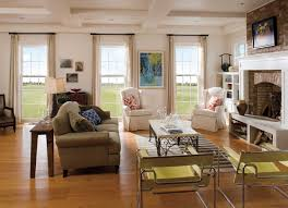 exterior elegant living room design with pella windows and sheer