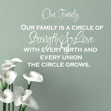 our family is a circle strength and love quote wall sticker