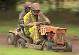 extreme lawnmower racing youtube