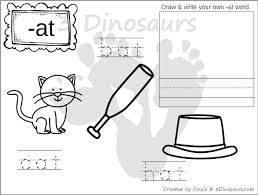 cvc word family coloring pages short vowel 3 dinosaurs