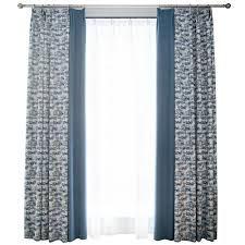 vintage bedroom curtains blue patterned splicing vintage curtains for bedroom