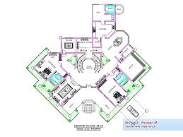 Ground And First Floor Plans by Luxurious Villa Design In Kerala Over 6000 Sq Ft