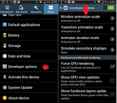 android developer options speed up your android interface by accessing developer options
