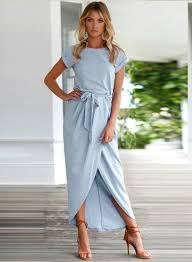 maxi dress sleeve high slit solid maxi dress with belt novashe