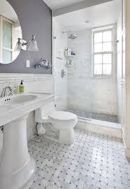 nyc small bathroom ideas carrara bianco wide basketweave honed laundry room bathroom