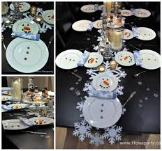 snowman table setting for christmas dinner such a simple u0026 cute