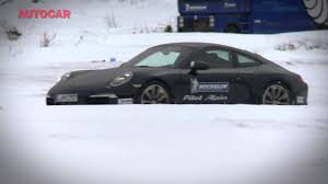 porsche 911 snow winter tyre test for sports cars porsche 911 tests by www
