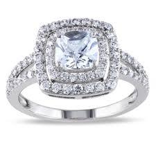 cubic zirconia engagement rings miadora sterling silver white cubic zirconia halo engagement ring