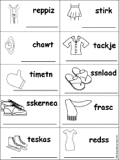 unscramble home and household words at enchantedlearning com