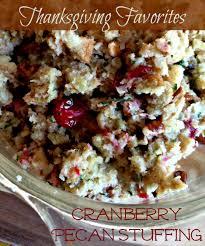 thanksgiving favorites cranberry pecan