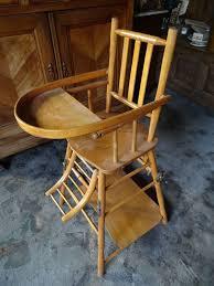 chaise e 50 chaise enfant ancienne en bois superbe qualité se transforme en