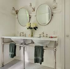 Console Bathroom Sinks Bathroom With Double Mirrors And Console Sink Charming Console