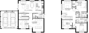 double storey floor plans the bicton three bed two storey home design domain by plunkett