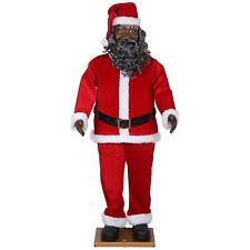 size animated american black santa claus by