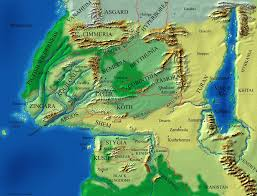 Europe And Asia Map by Europe Africa And Asia During The Hyborian Age When Conan The