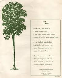 this day in quotes only god can make a tree but joyce kilmer s