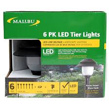 Malibu Patio Lights Malibu 6 Pack Pathway Led Tier Lights Low Voltage Outdoor Path