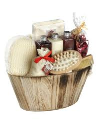 Bath Gift Basket Winter In Venice Wooden Oval Bowl Body And Bath Gift Set